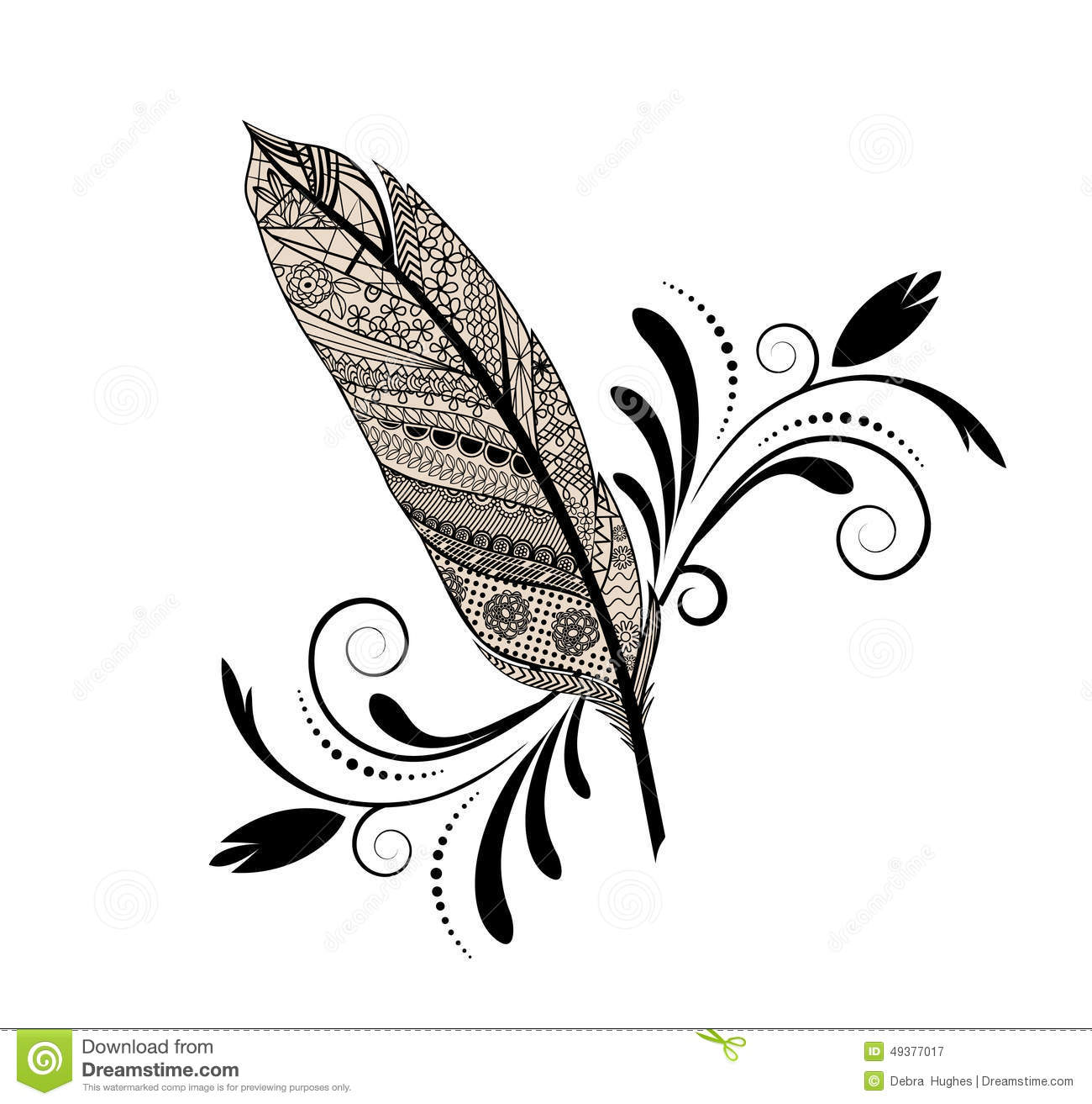 Stock Illustration Graphic Design Feather Sketch Flourish Isolated Image49377017 on Art Writing
