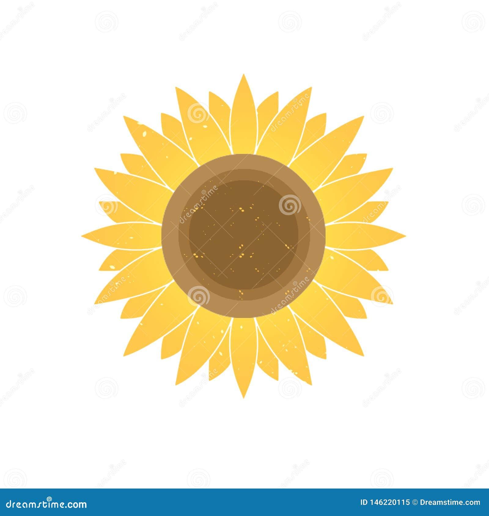 Graphic design gradient yellow sunflower