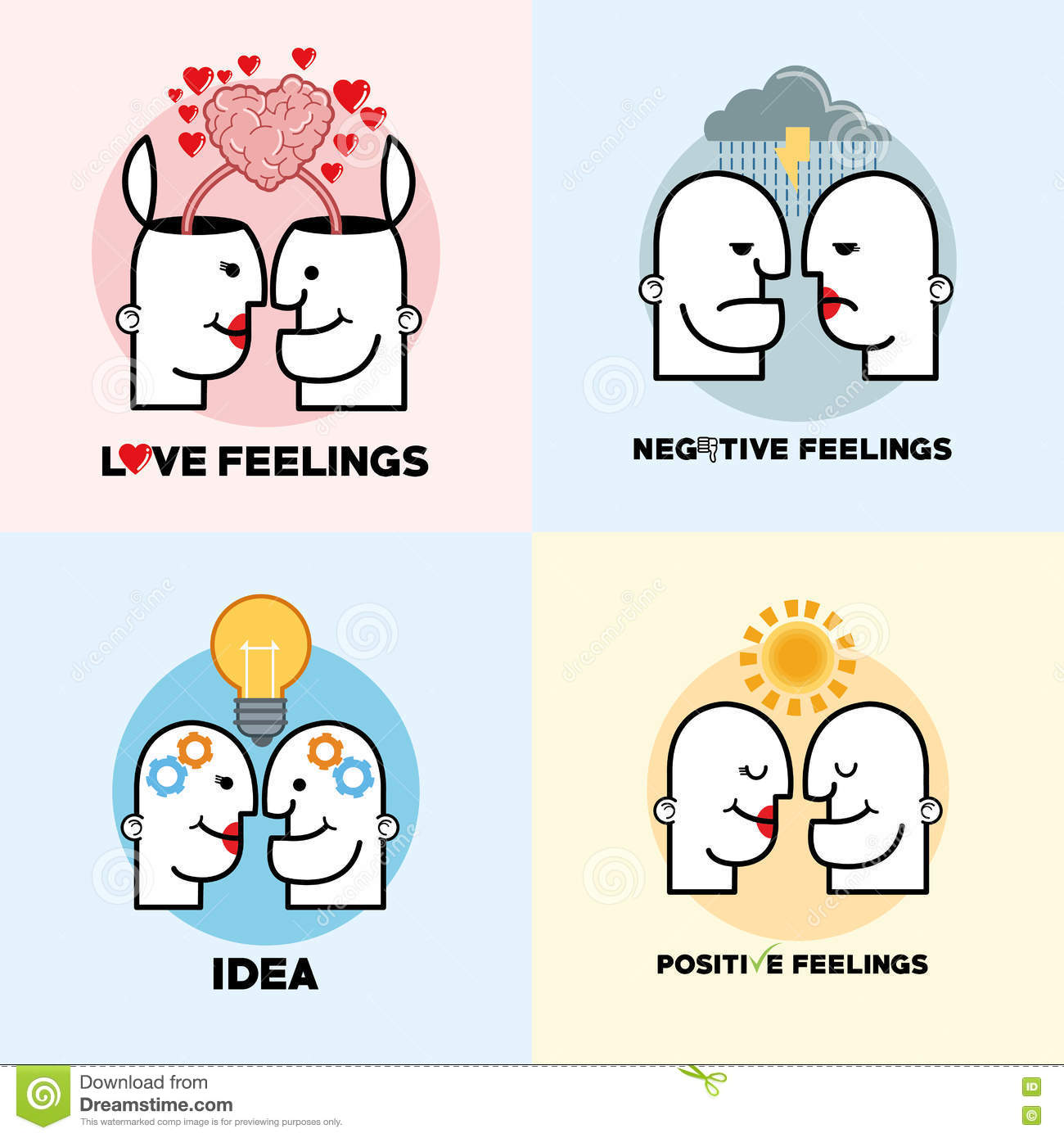 Mind thinking vector free download