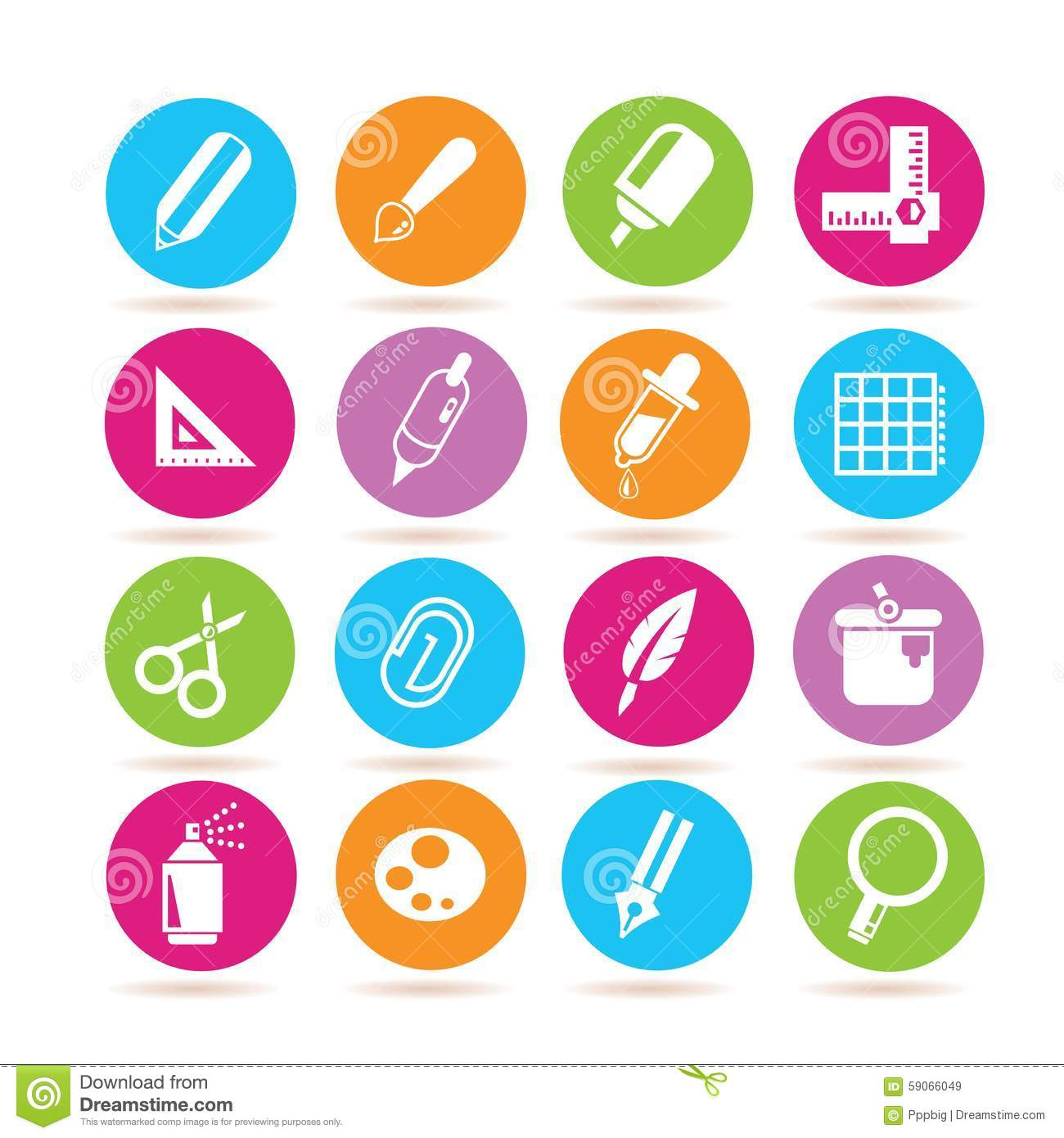 Graphic Design Tool Icons Stock Illustration - Image: 59066049