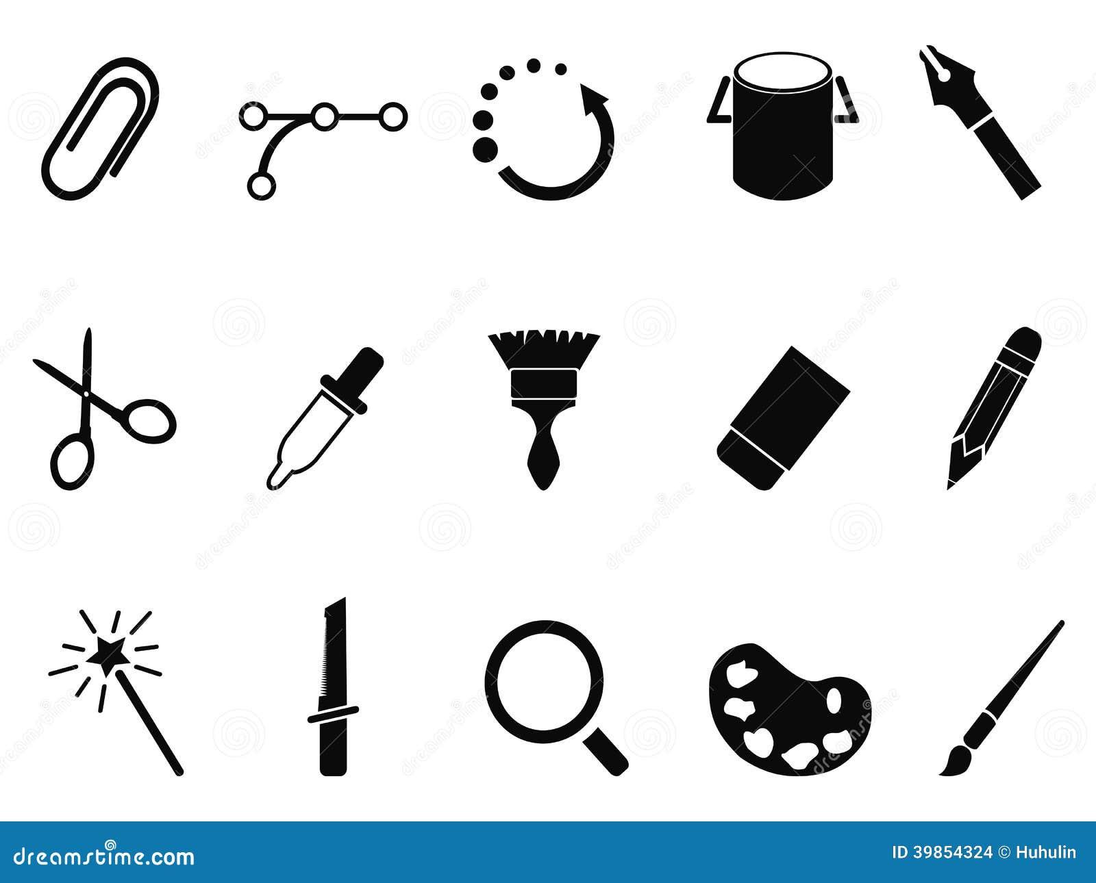 graphic design tools icon set stock vector image 39854324