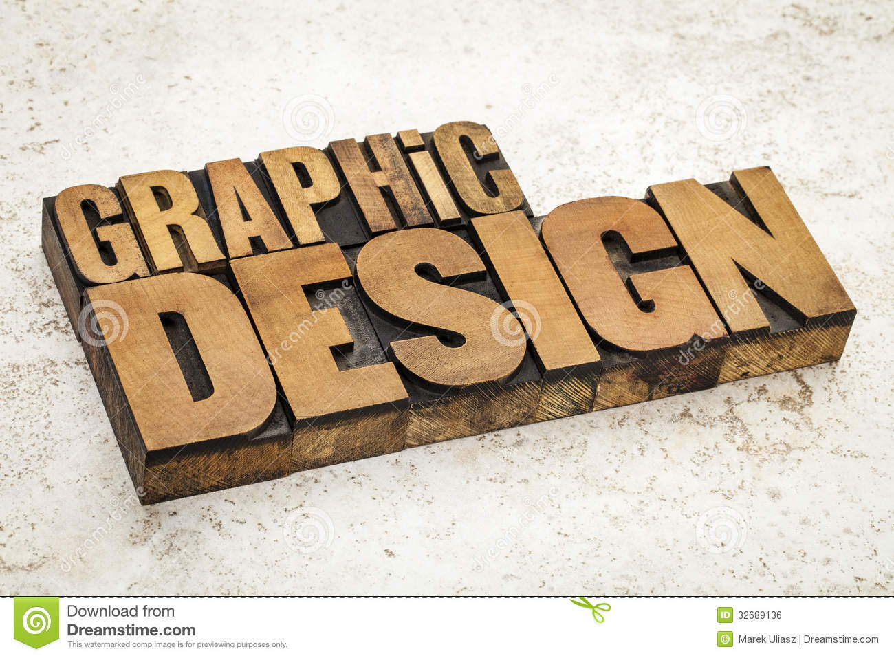 Graphic Design In Wood Type Royalty Free Stock Image - Image: 32689136