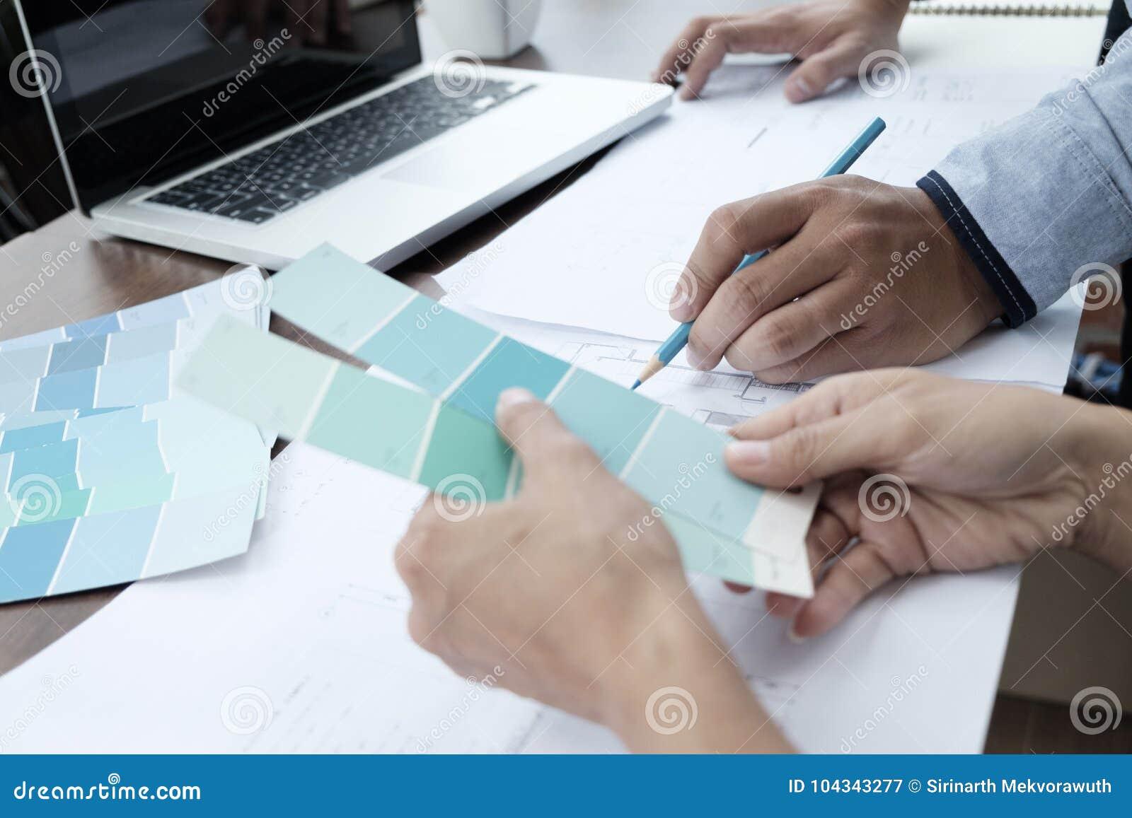 Graphic designer working.