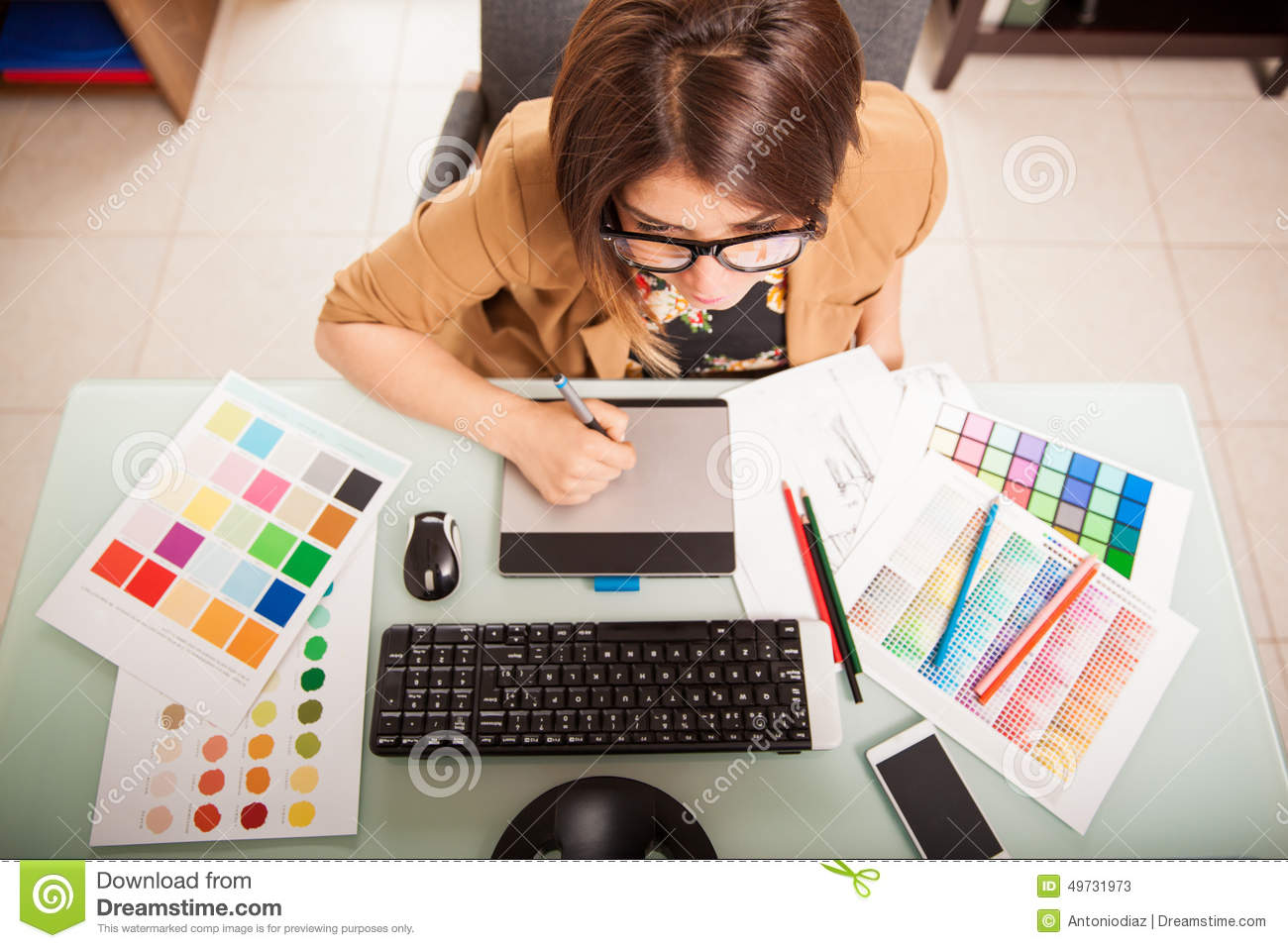 Graphic Designer In Her Office Stock Photo Image 49731973