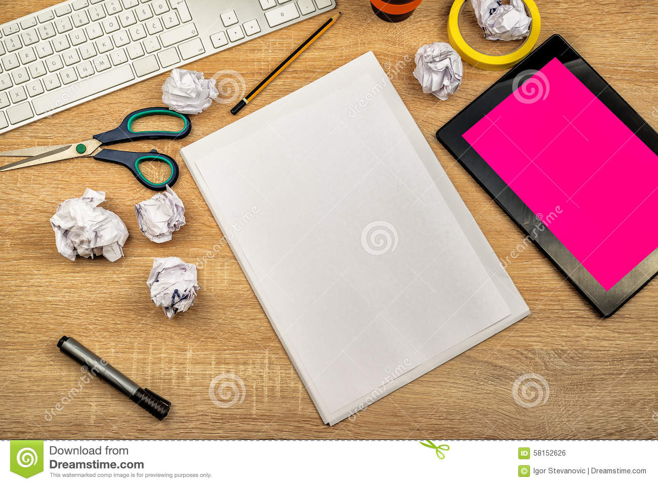Graphic designer tabletop workspace stock photo image for Table graphic design