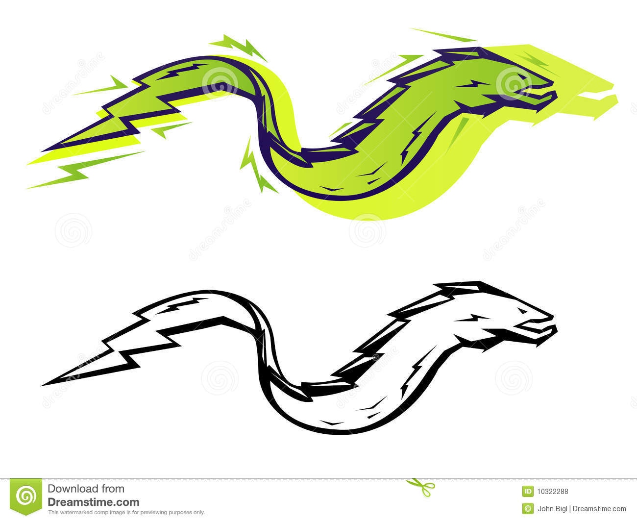 Graphic Eel Royalty Free Stock Photos Image 10322288