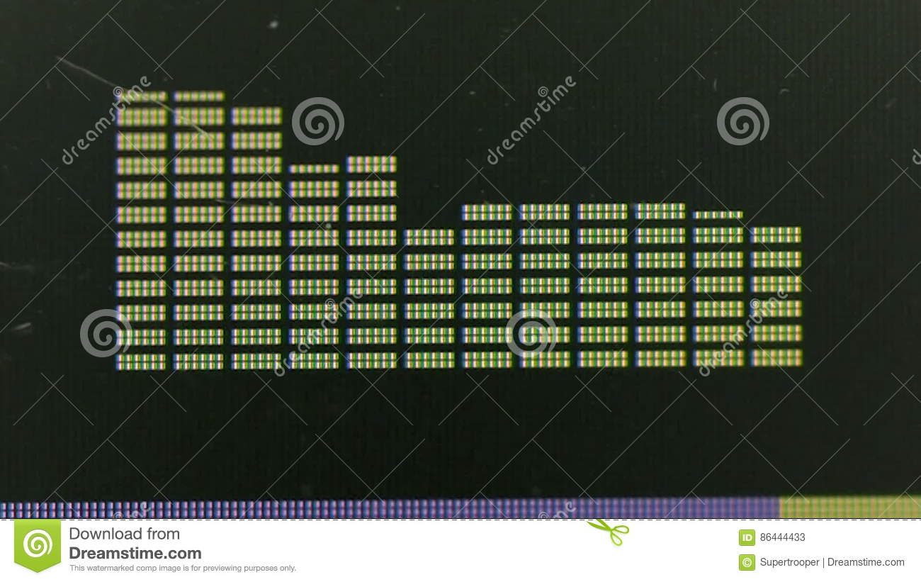 Graphic Equalizer Display Stock Video Image Of Equal 86444433 Audio