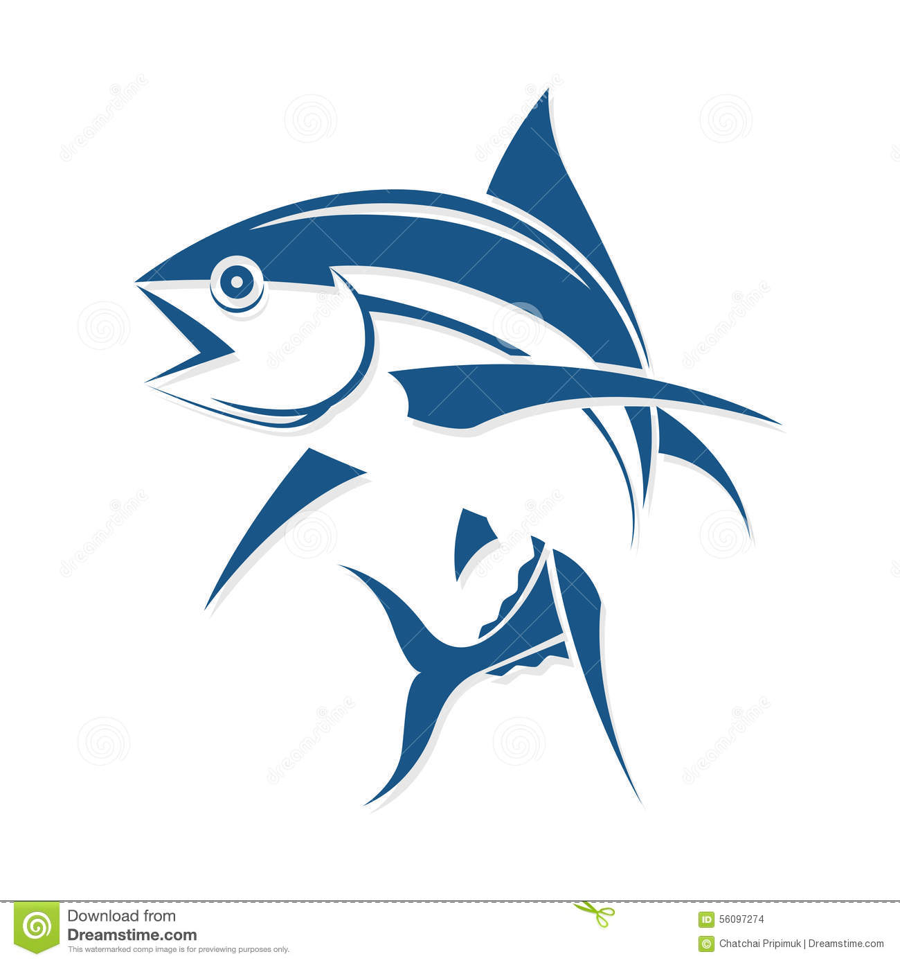 tuna fish logo design