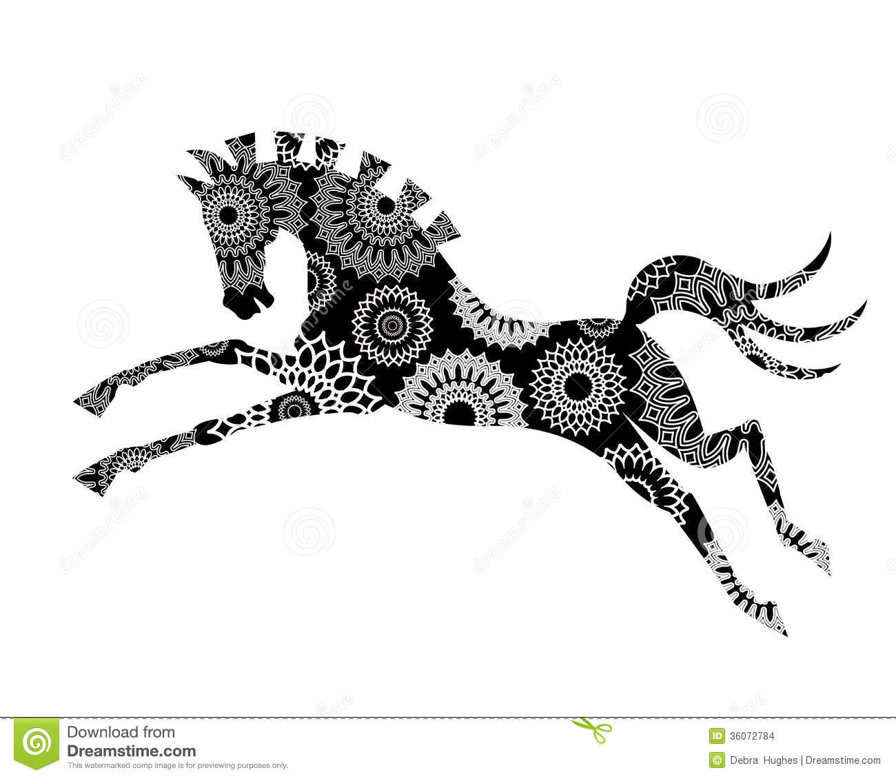 Graphic Horse Stock Images Image 36072784