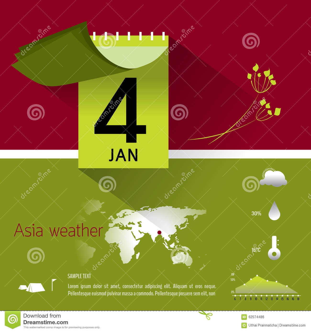 Calendar Design Eps File : Graphic info about calendar and weather stock vector