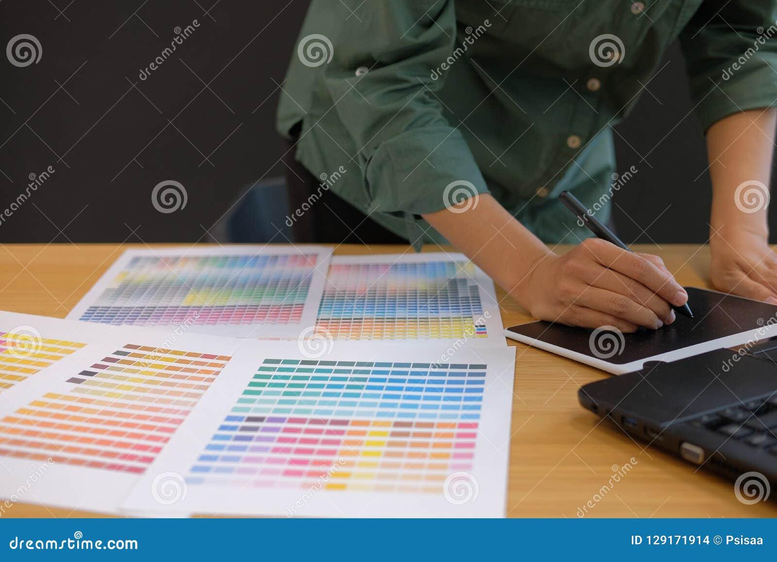 graphic interior designer working with computer. creative man dr