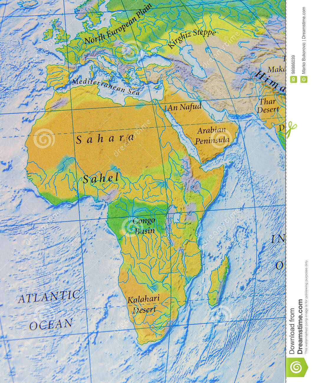 Map Of Africa Sahara.Graphic Map Of Africa Close Stock Image Image Of Outline Sahara