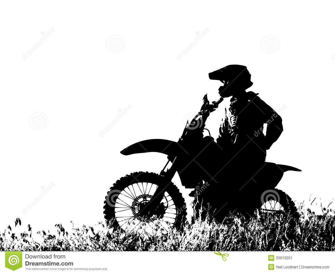 Motorcycle Rider Silhouette Clip Art
