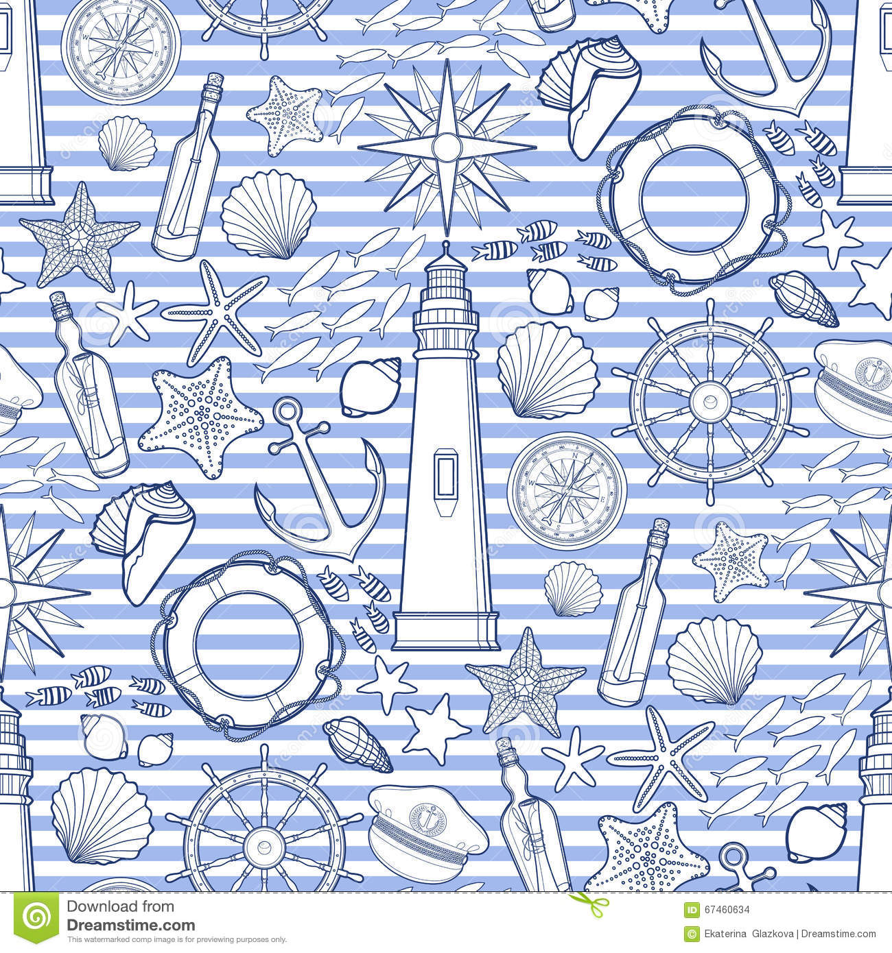 ocean background coloring pages - graphic nautical emblem cartoon vector