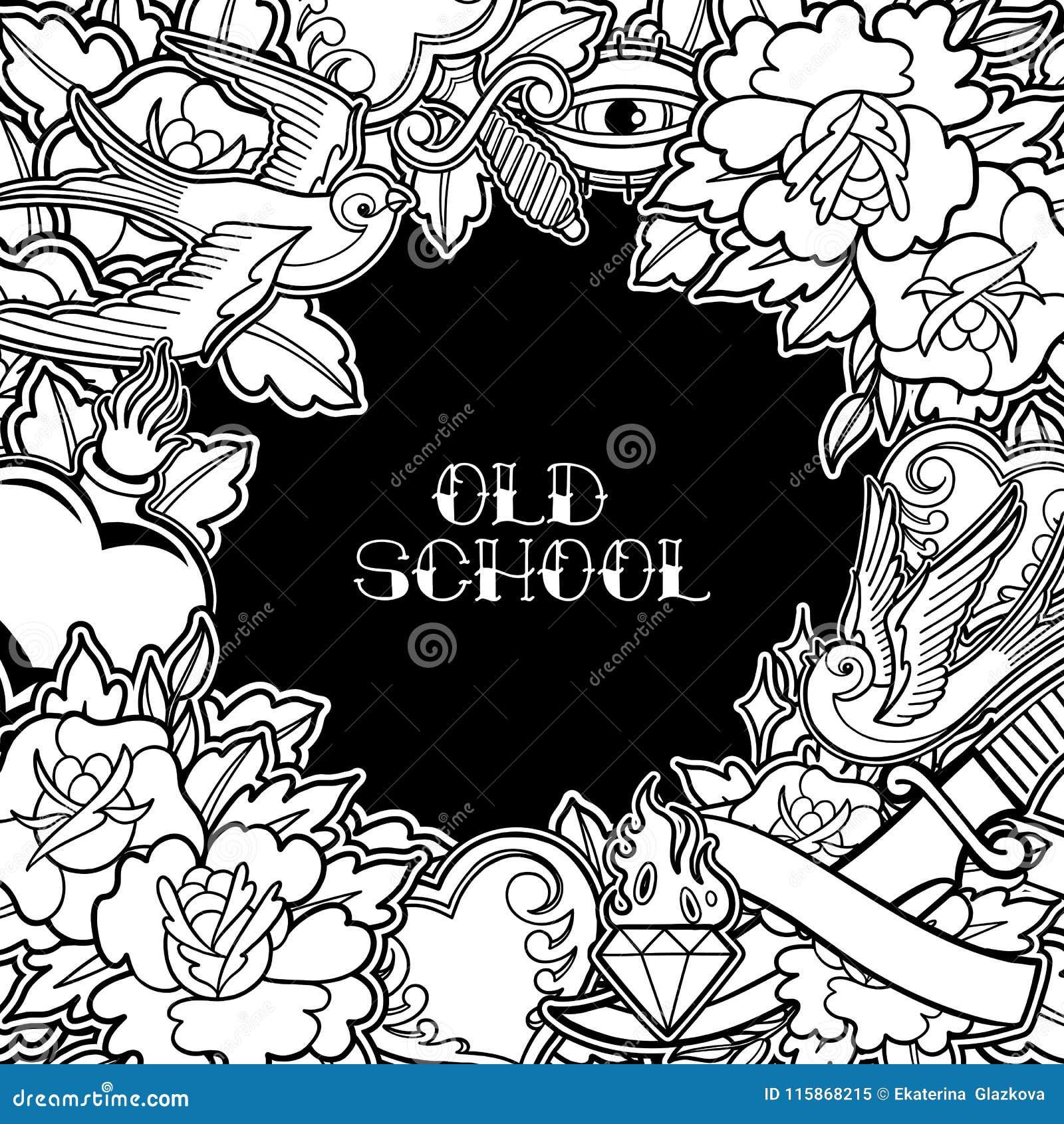 Graphic Old School Design Stock Vector Illustration Of Fashion