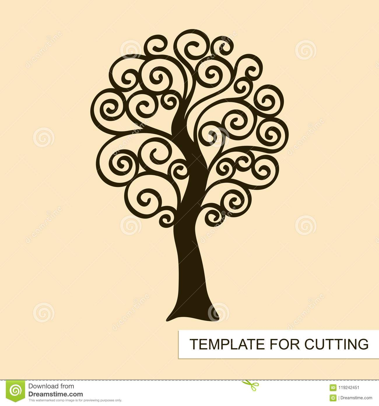 Graphic silhouette of swirl tree without leaves stock vector download graphic silhouette of swirl tree without leaves stock vector illustration of cutout maxwellsz