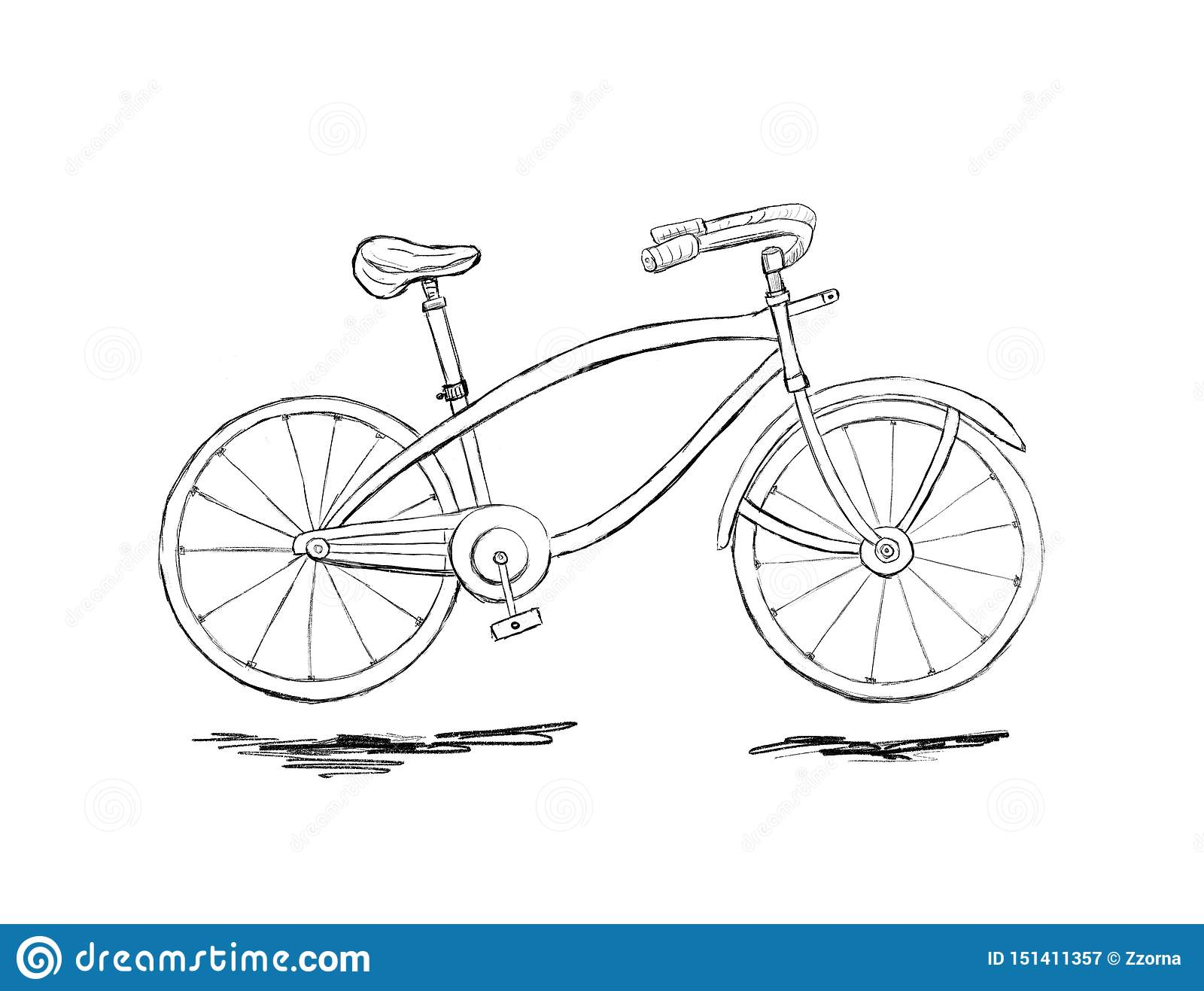 Graphic sketch of bicycle stock image image of bikes 151411357