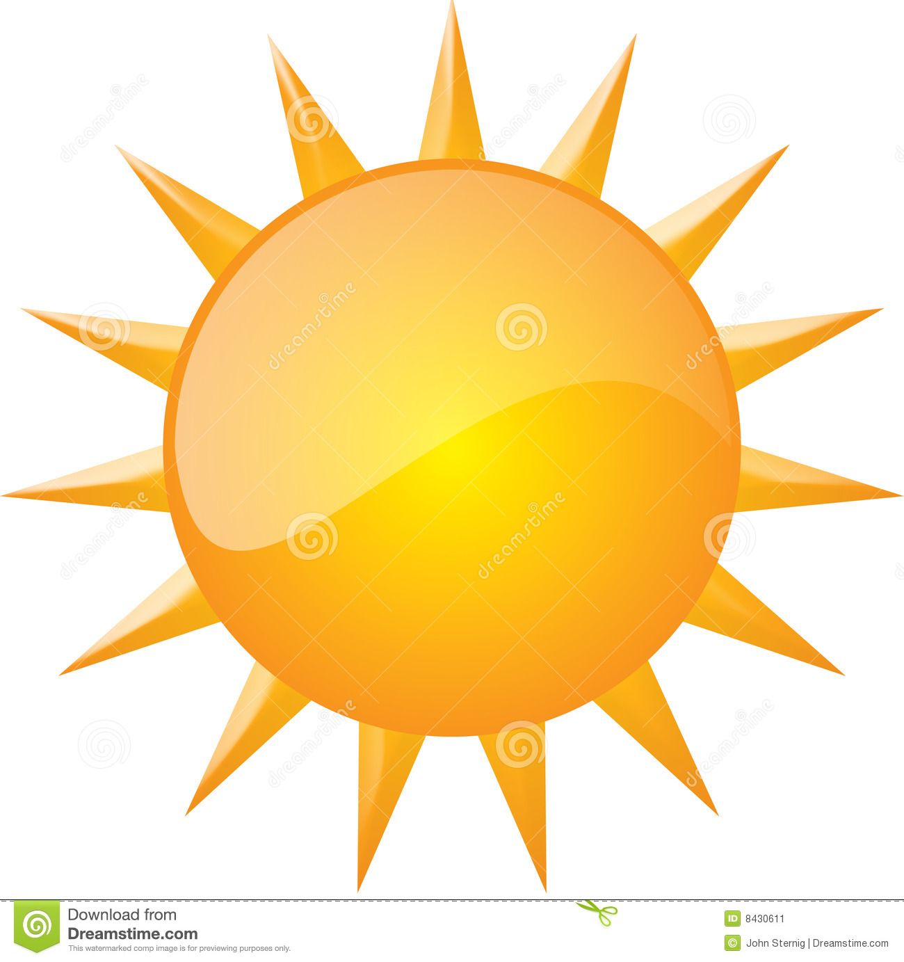 Graphic of sun (Vector Available)