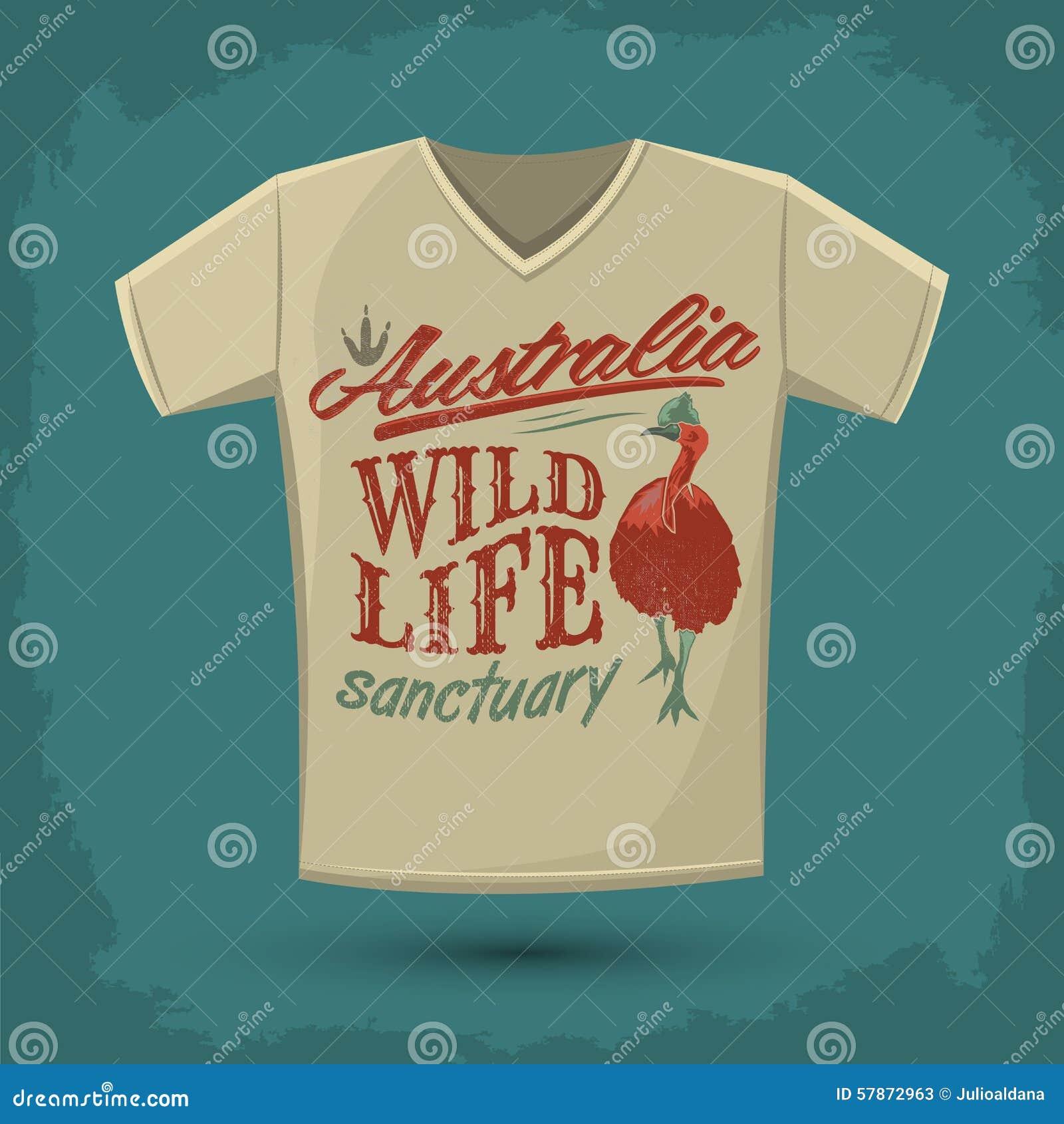 Graphic t shirt design australian wild life sanctuary Design t shirt australia