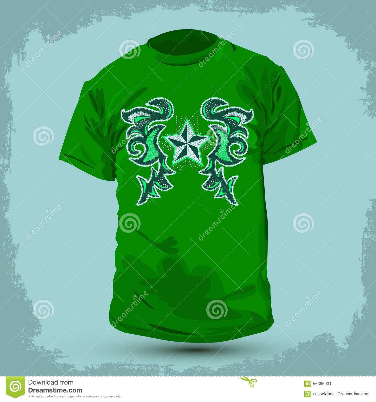 Graphic t shirt design rockstar abstract design stock for Stock t shirt designs