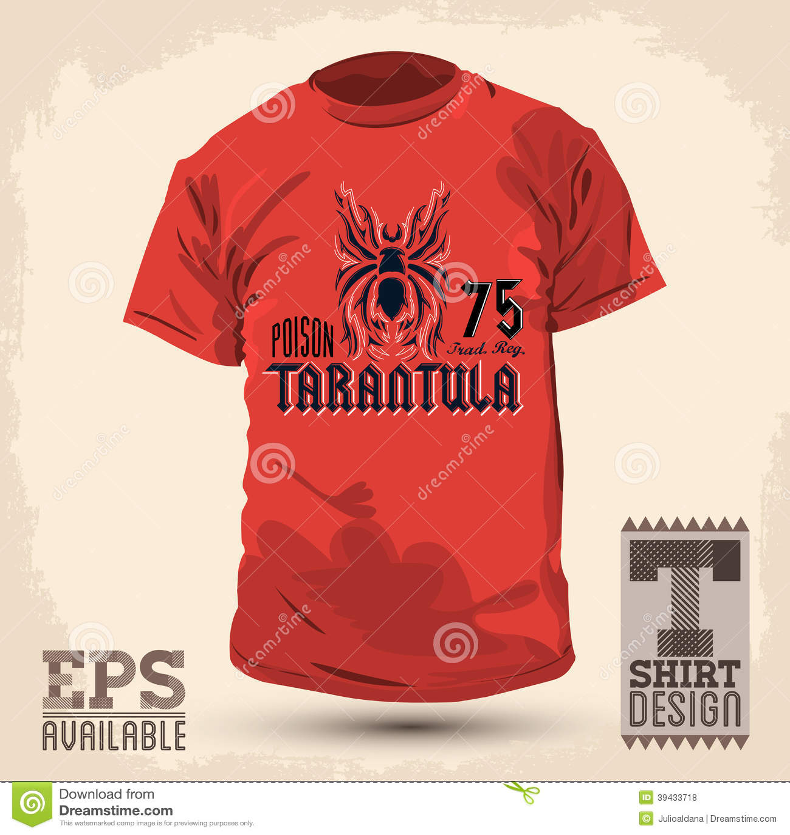 Graphic t shirt design tarantula lettering design stock for Stock t shirt designs