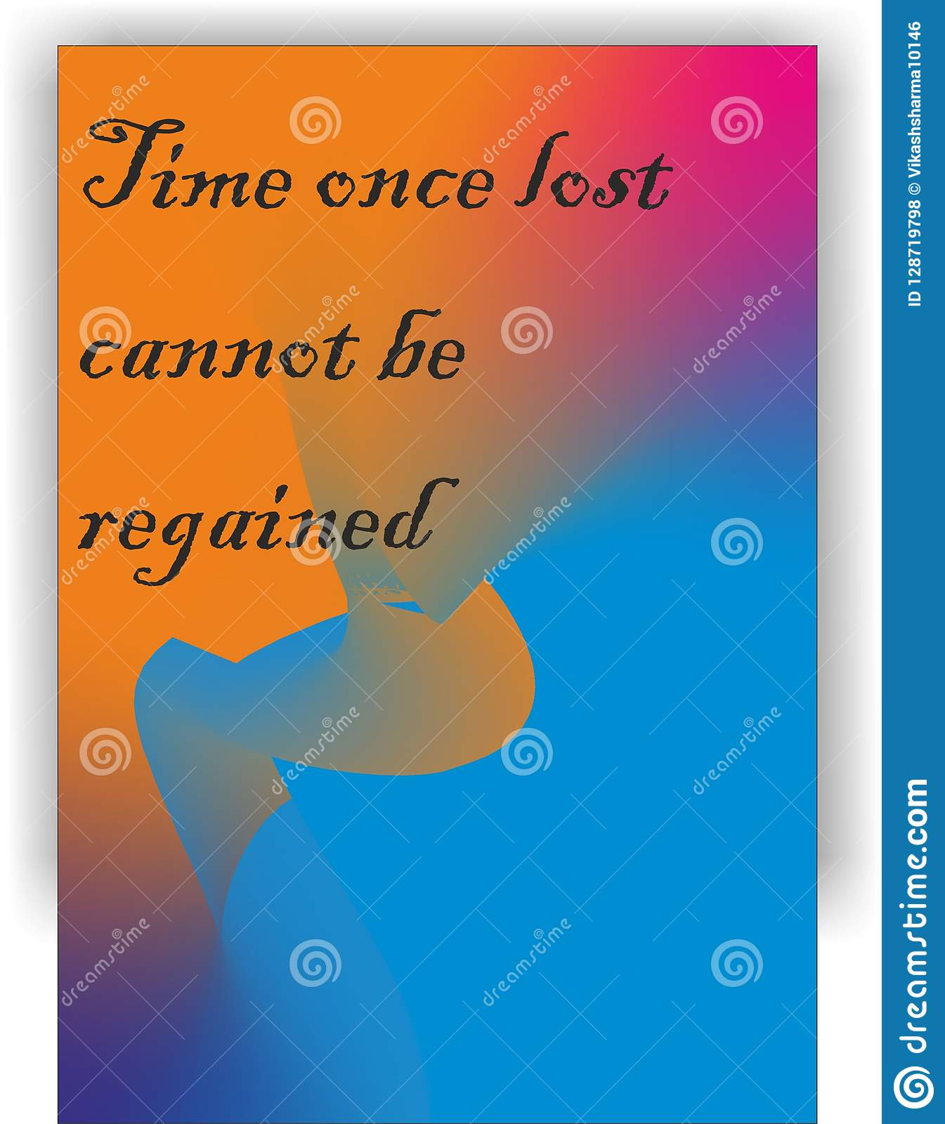 time quotes design color stock illustration illustration of