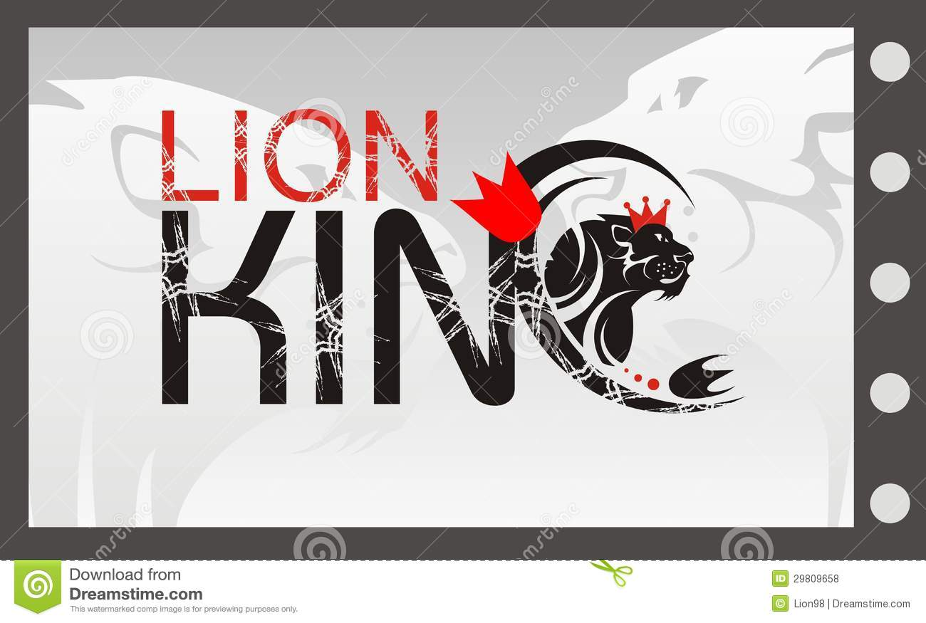 Lion king with a crown vector lion symbol stock vector lion king with a crown vector lion symbol biocorpaavc Gallery