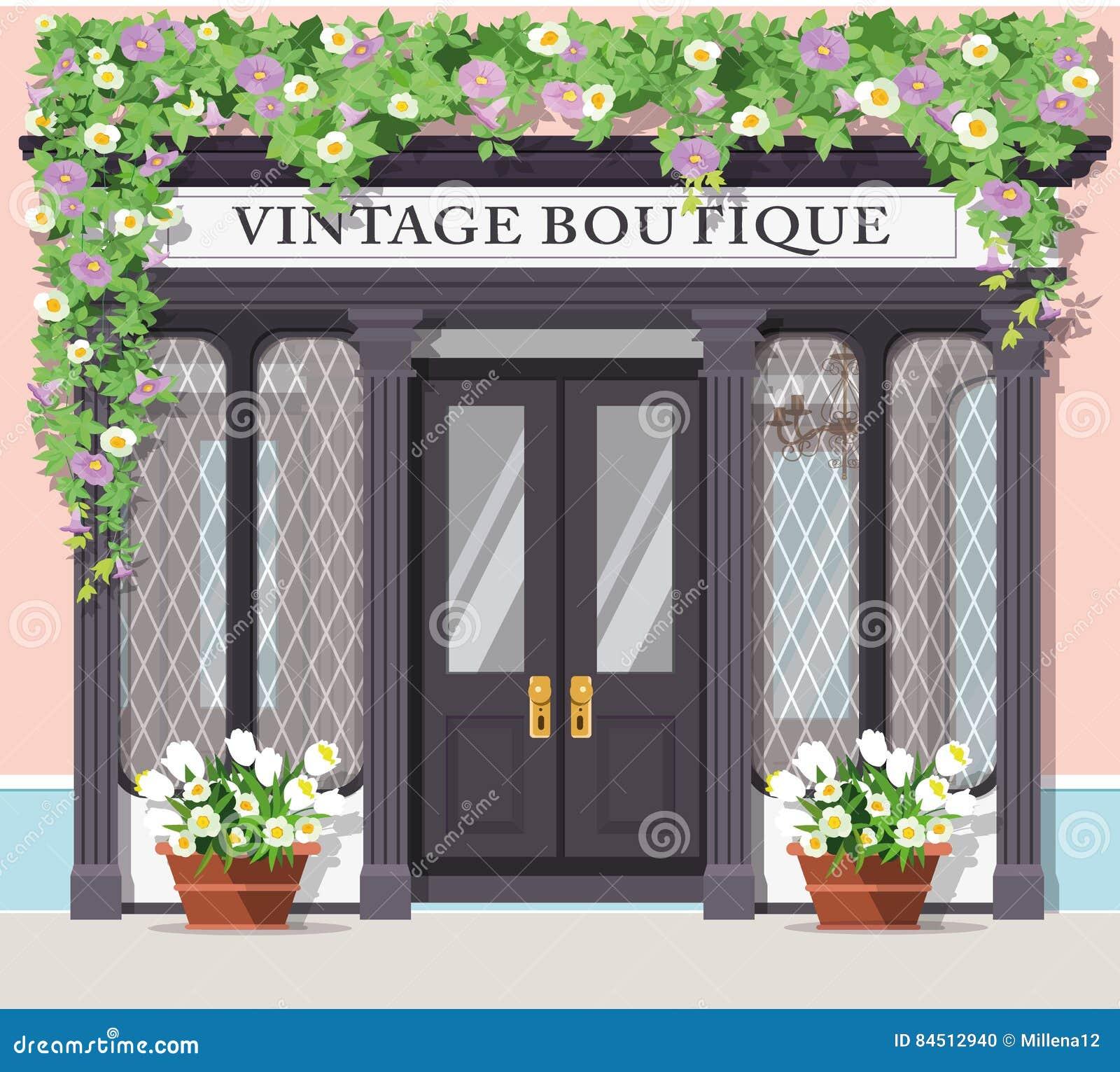 Boutique Storefront Stock Illustration