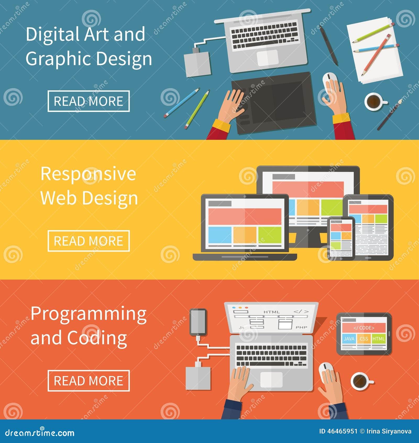 Graphic And Web Design Programming Digital Art Stock