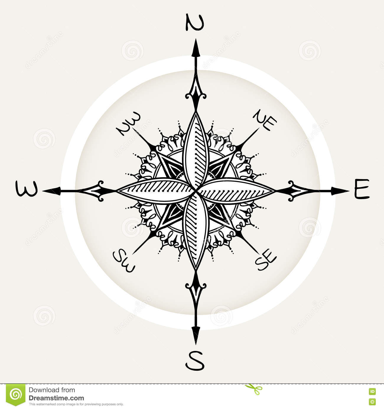 Vintage Sun Compass Rose Stock Photos Images Pictures 13 Images