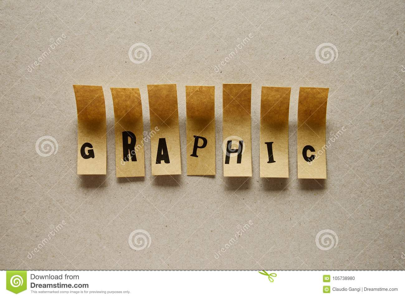 Graphic - word in sticky letters
