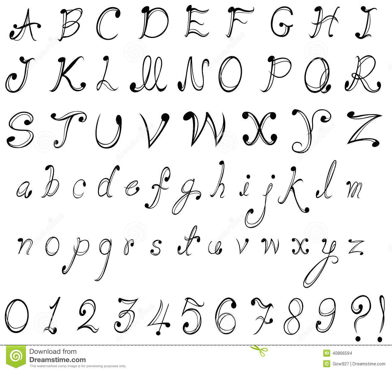 Worksheets A To Z Stylish Font Style stylish font with herbal ornament green capital letters decorat graphical and numerical numbers in de stock images