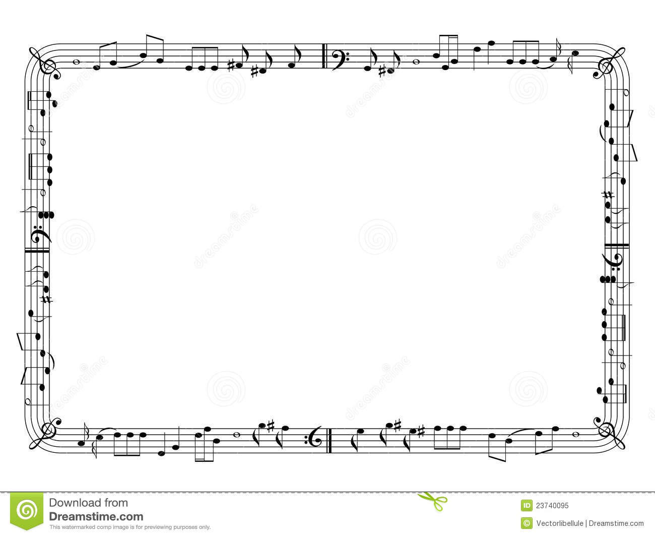 Graphical music frame royalty free stock photo image for Canciones para jardin de infantes
