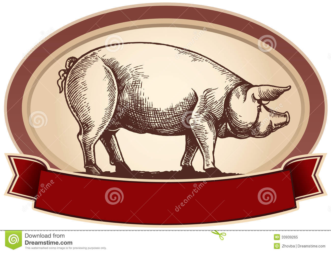 Graphical Pig Royalty Free Stock Photo - Image: 33939265