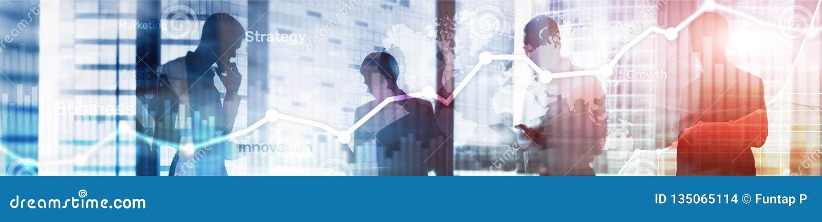 Graphique abstrait, diagramme et diagramme de double exposition de fond d affaires Carte mondiale et Affaires et financier globau