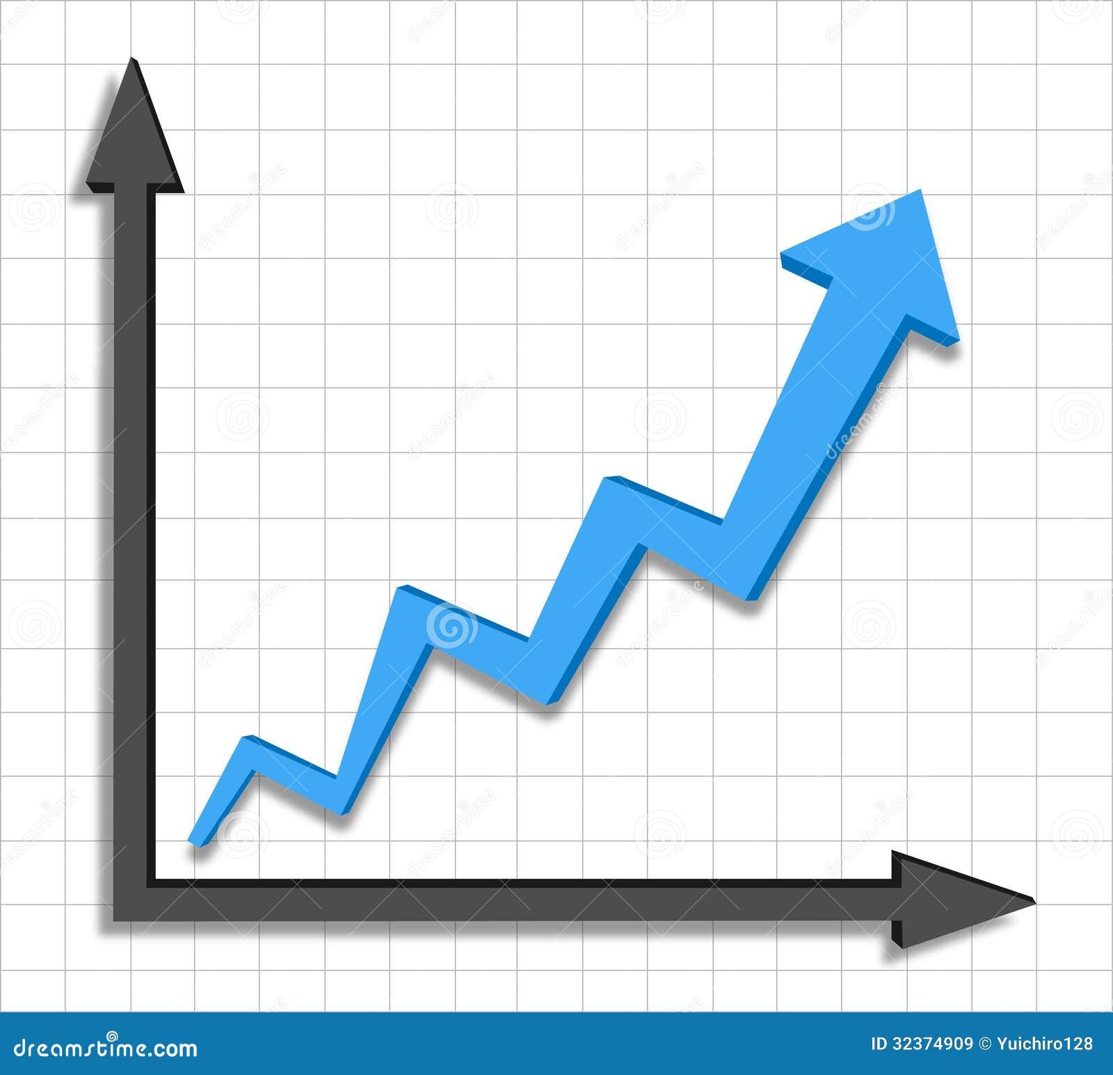 Graphique bleu de fl che de progr s de croissance images for Architecture graphique