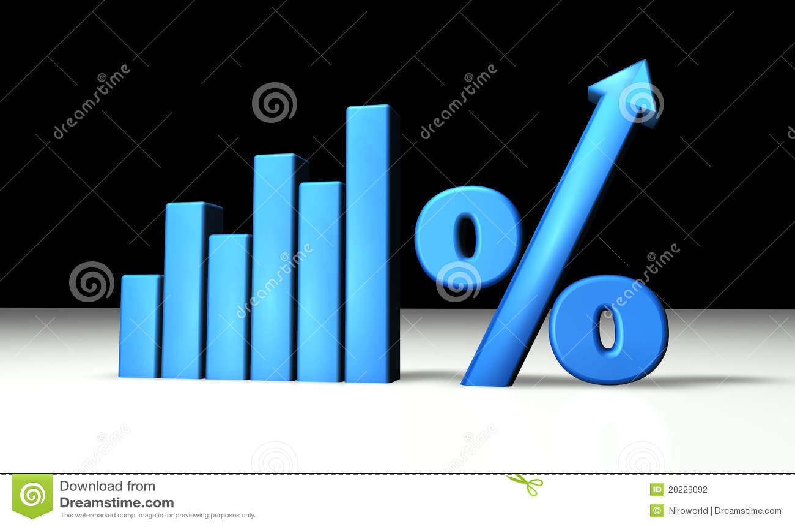 graphique bleu de pourcentage illustration stock image 20229092. Black Bedroom Furniture Sets. Home Design Ideas