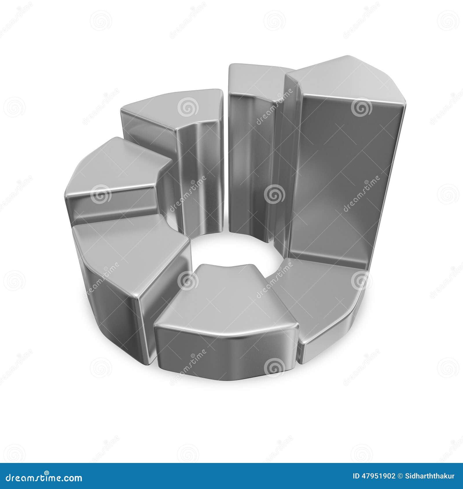 Graphique circulaire de Chrome 3D de croissance d affaires