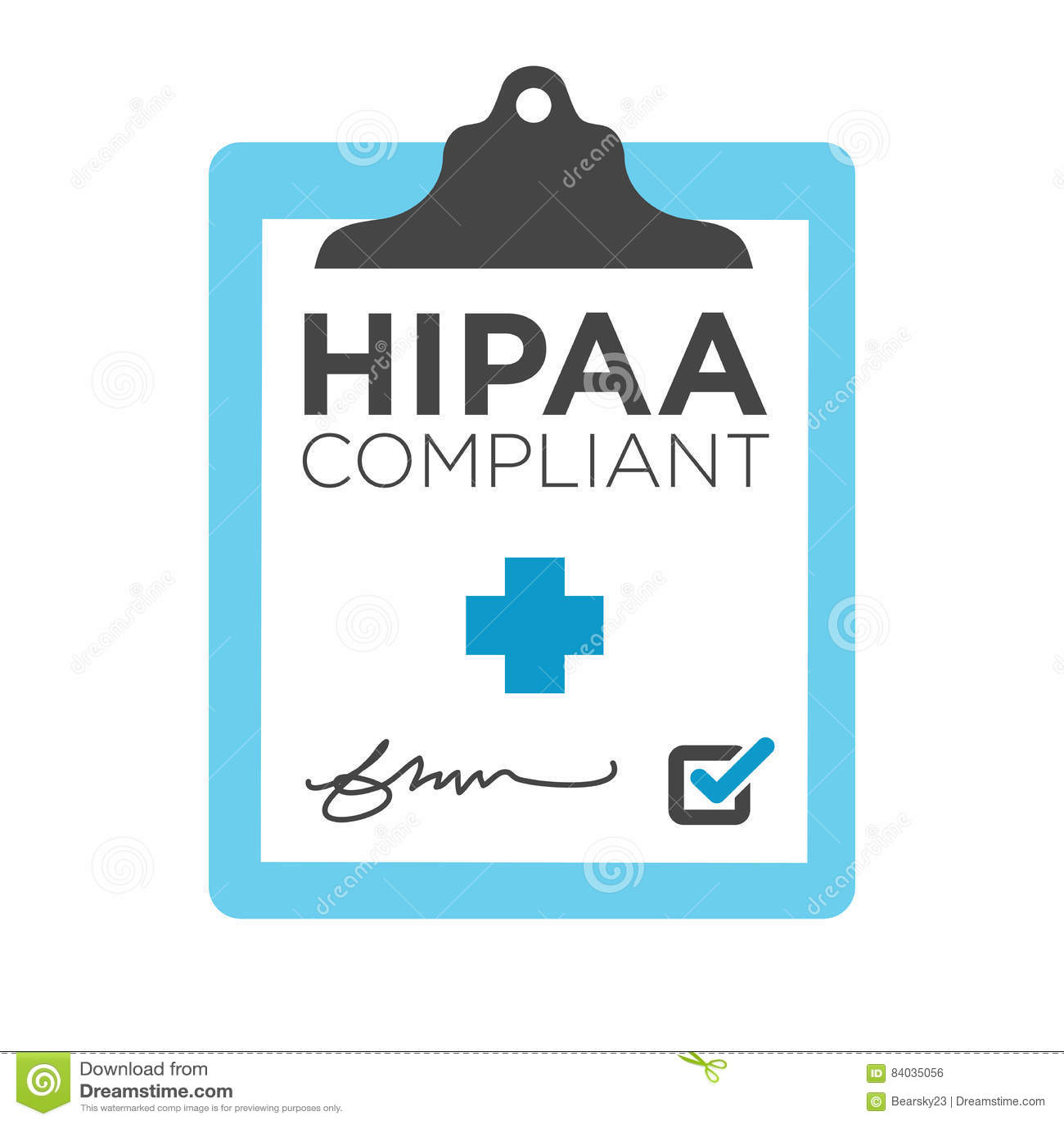 Graphique de conformité de HIPAA