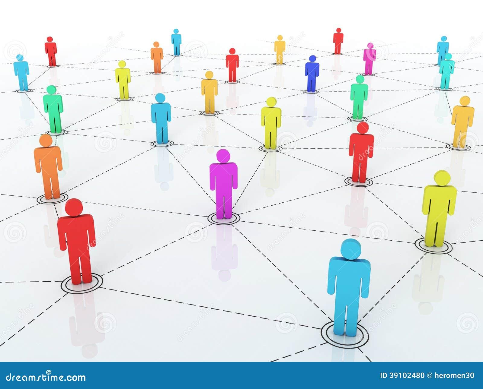 Graphique de réseau d affaires