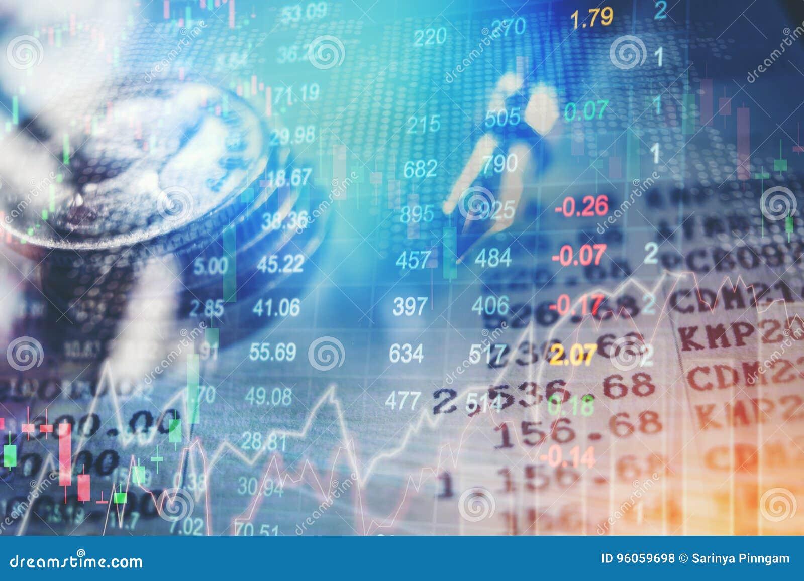 Graphique de stoc financier d abrégé sur analyse d indicateur de marché boursier