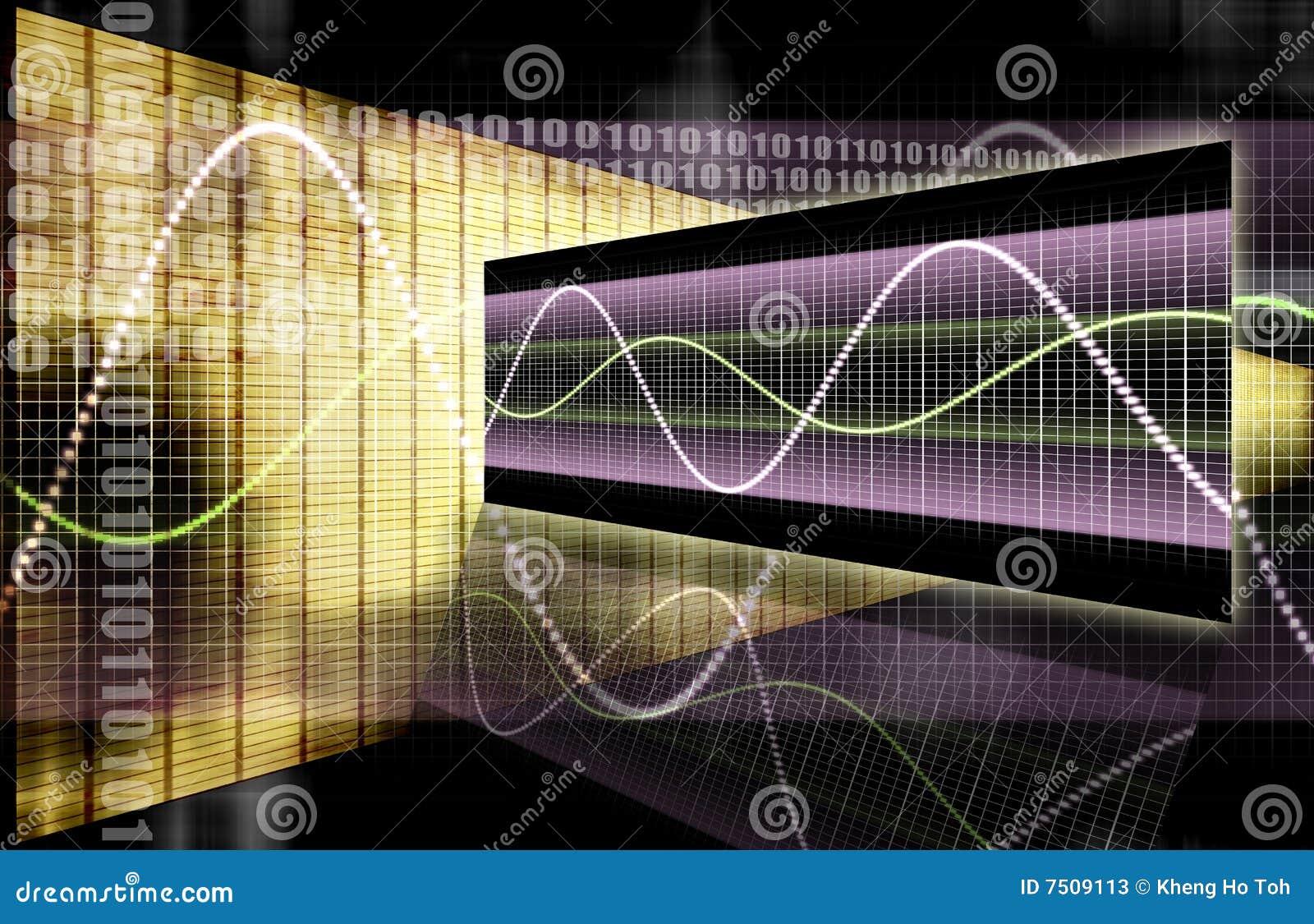 Graphique de technologie de tableur de finances