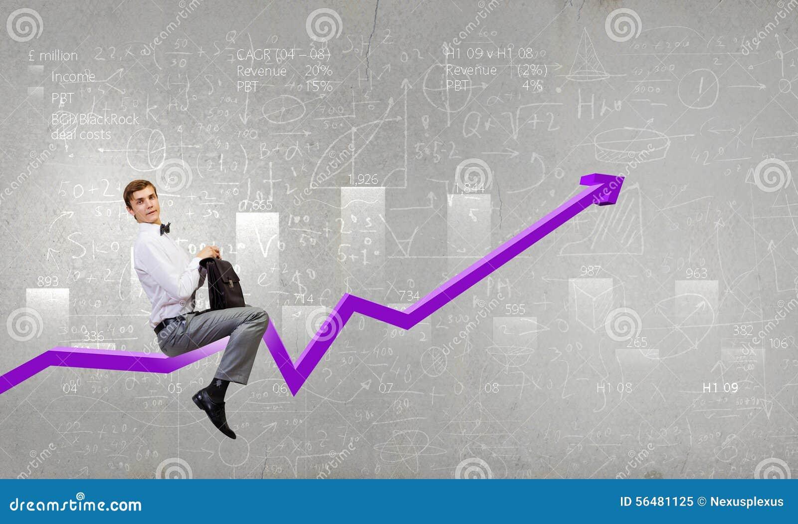 Graphique de tour d homme d affaires
