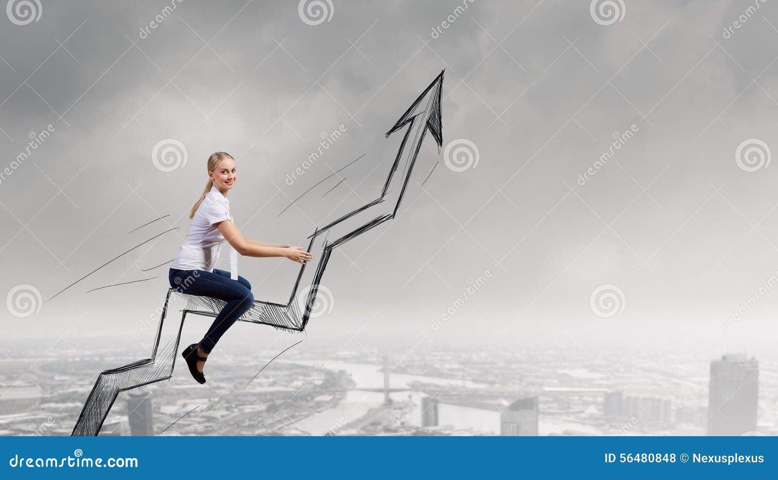 Graphique de tour de femme d affaires