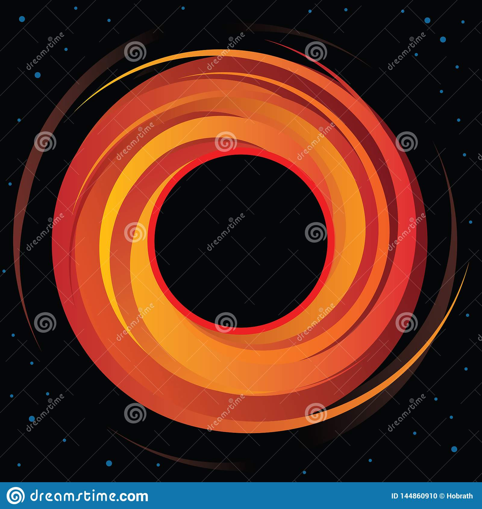 Graphique de vecteur Supermassive de trou noir
