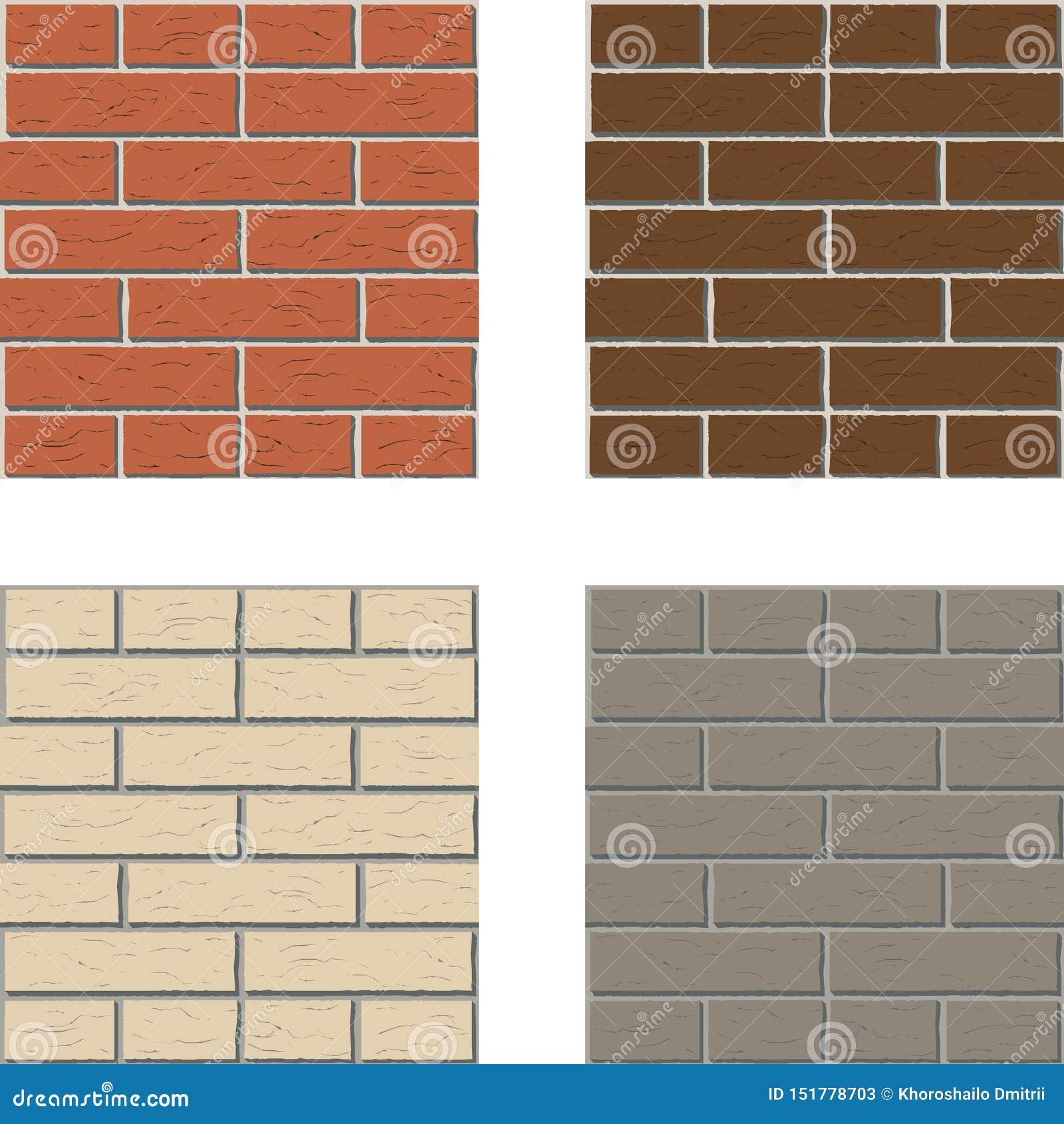 Graphique intérieur de mur de briques de modèle gris rouge-brun blanc de vecteur