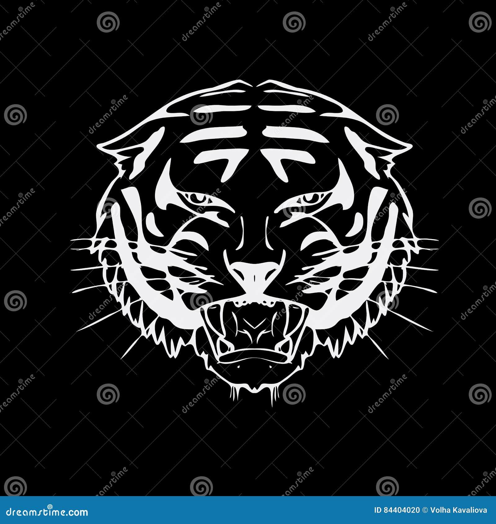 Favori Graphiques Tirés Par La Main De Crayon, Tête De Tigre Gravure  UT25