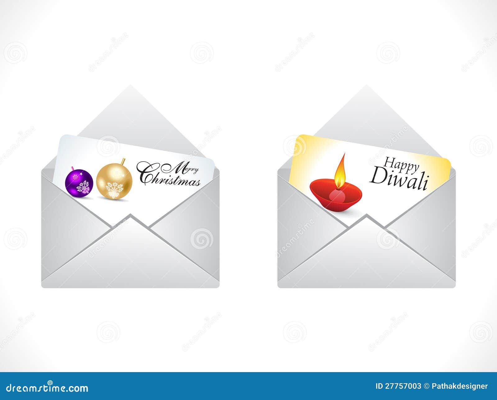 Graphisme abstrait de courrier de célébration