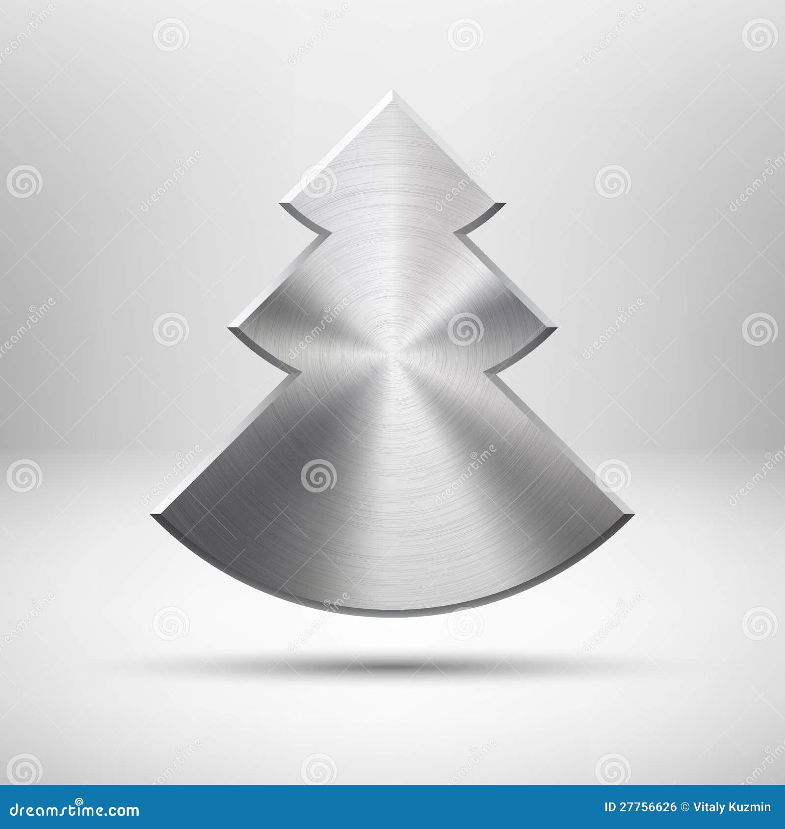Graphisme d arbre de Noël de Tecnology avec la texture en métal