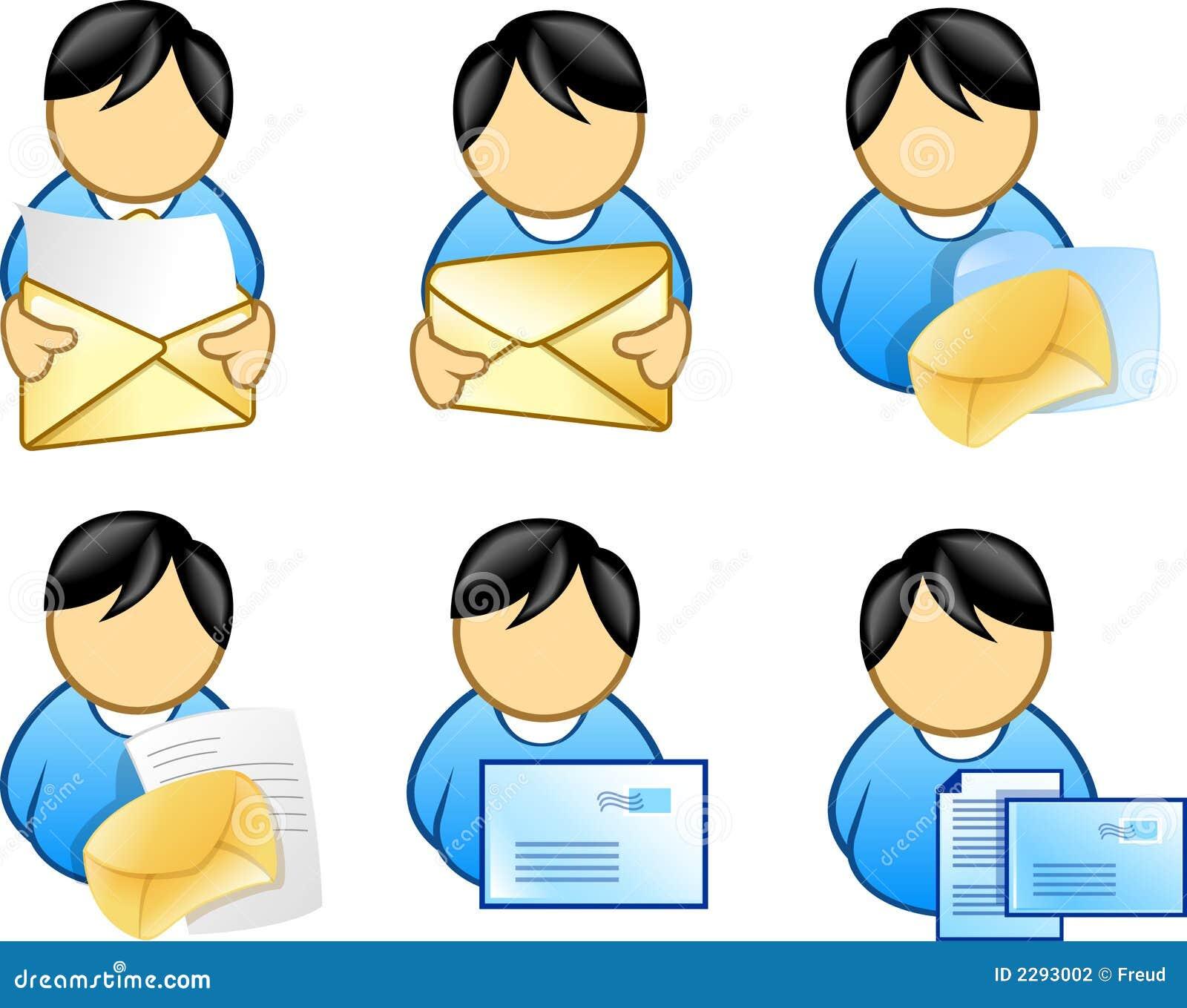 Graphisme d email de fixation de gens